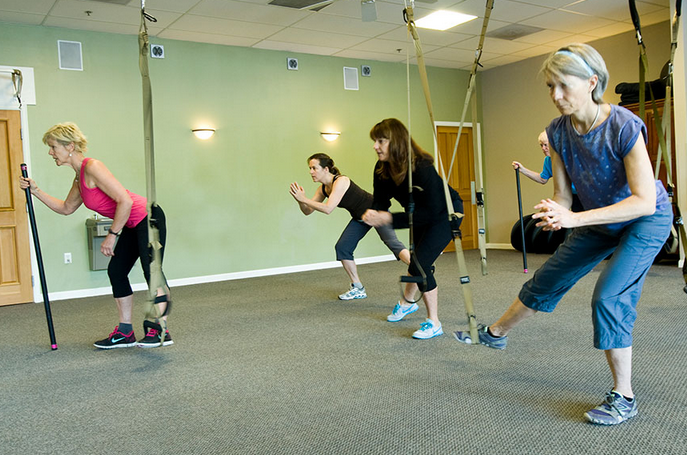group-exercising